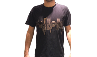 T-shirt Milano skyline – uomo xl