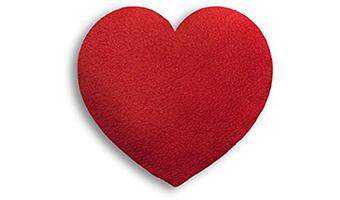 Scaldino per microonde con semi-cuore