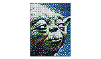 Star Wars quadro pixel art Yoda