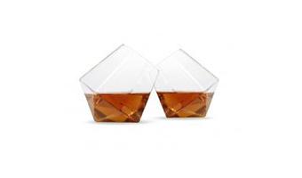 Coppia di bicchieri diamante