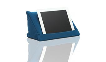 cuscino reggi tablet blu