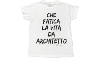 t-shirt ironica laurea archittetto