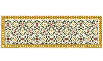 tappeto telki decoro classico d'epoca giallo 198x60