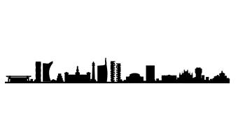 skyline adesivo per parete milano