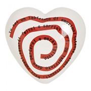 cuore in ceramica labirinto del cuore