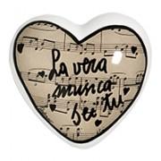 cuore in ceramica la vera musica sei tu