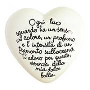 cuore in ceramica poema