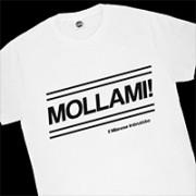 T.SHIRT BIANCA MOLLAMI MILANESE IMRUTTITO