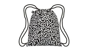 Zaino sacca decorato