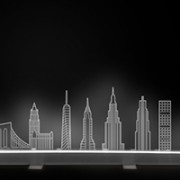 lampada led skyline new york