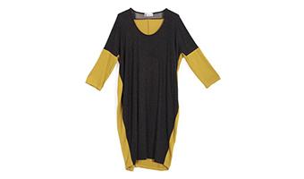 Vestito antracite e giallo S/M