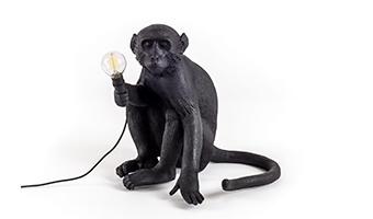 lampada scimmia seletti nera