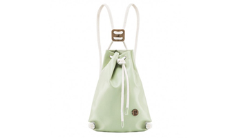 zaino sacca ecopelle if bag menta