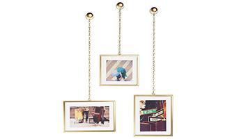 3 Portafoto con catenella da parete