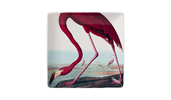 piatto ceramica flamingo