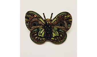 Spilla farfalla con perline