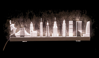 Lampada skyline New York LED