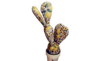 cactus di pezza con limoni