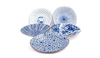 Ceramica giapponese piatto fondo