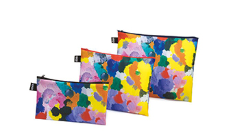 set di 3 Pochette decorate Loqi