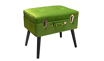 pouf bauletto velluto verde pusher