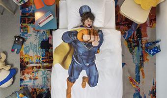 lenzuola e copriletto super eroe