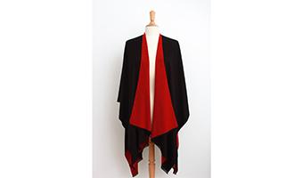 giacca stola viscosa rosso nera