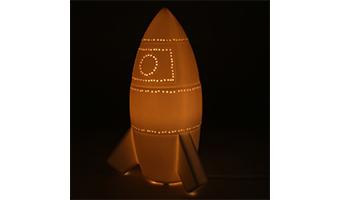 lampada porcellana missile