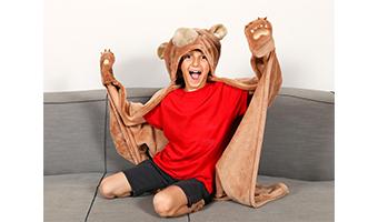 coperta mantella orso