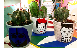 """Vasetto """"Testa di Cactus"""""""