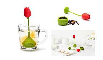 infusore in silicone a forma di tulipano