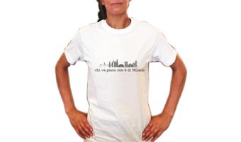 T-shirt Milanese Chi va piano non è di Milano