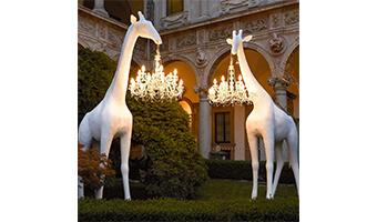 giraffa lampada candelabro
