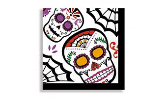 tovaglioli di carta teschio messicano