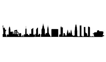 skyline adesivo per parete new york