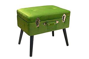 pouf bauletto velluto verde pusher