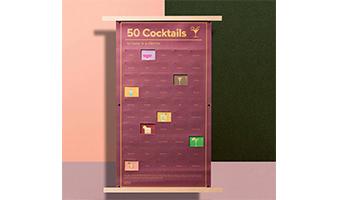 poster con 50 cocktails da bere una volta nella vita