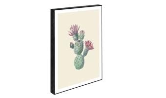 Quadretto legno cactus