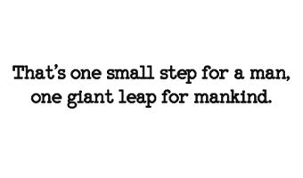 scritta adesiva primo uomo sulla Luna