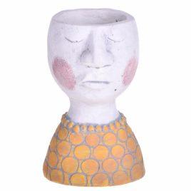 vaso testa piccolo giallo