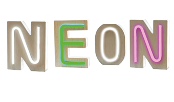 lettere luminose neon