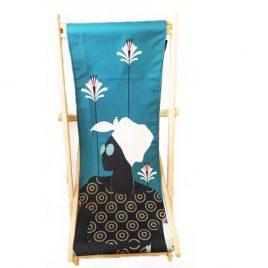 Sdraio in legno ispirata all'afro style
