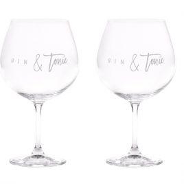 coppia di bicchieri per amanti del gin tonic