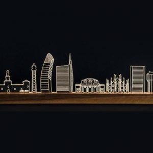 skyline lampada led milano