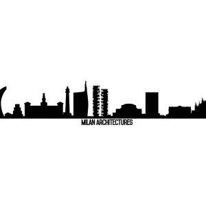skyline adesivo milano